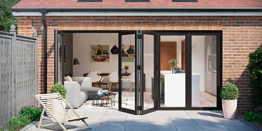 Black Bifold Door Installation