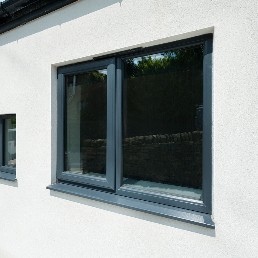 Grey uPVC casement window High Wycombe
