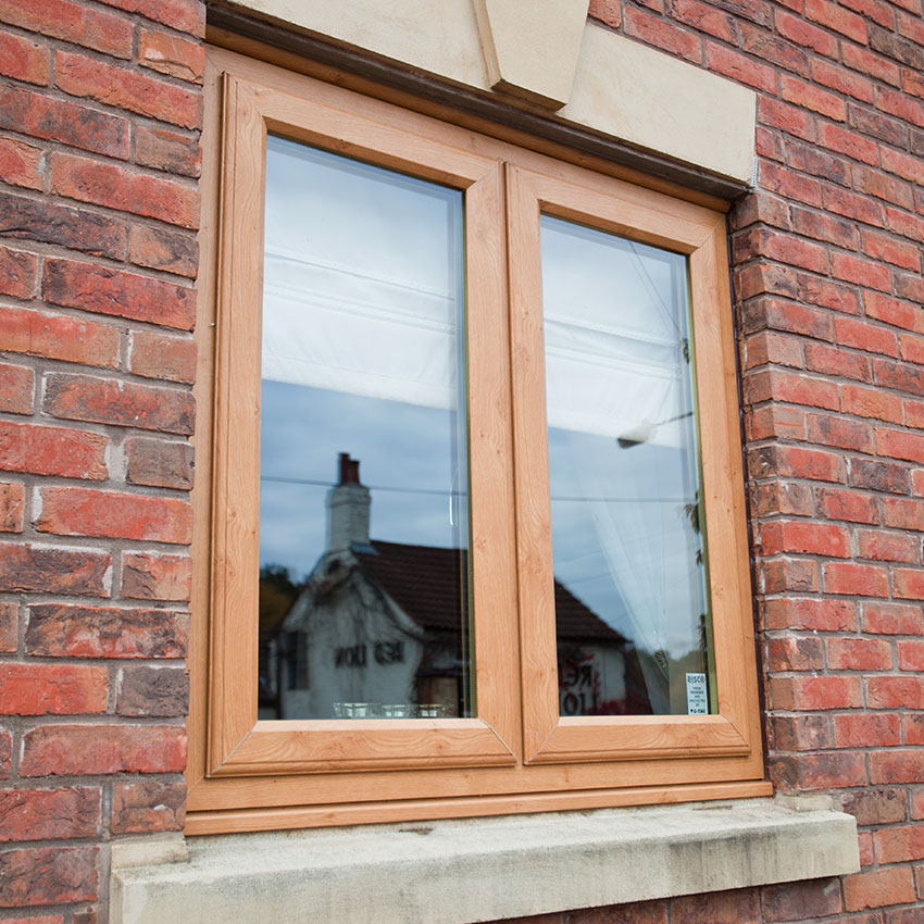 Irish oak uPVC casement window Buckinghamshire