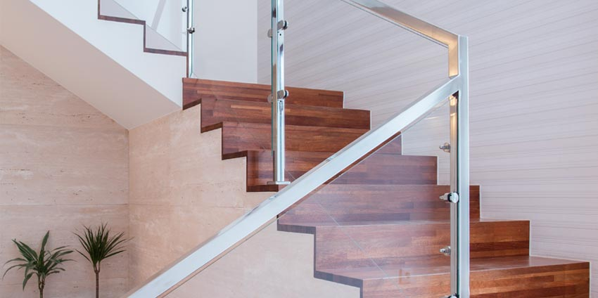 glass stair railing balustrade
