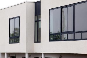 Contemporary black aluminium windows
