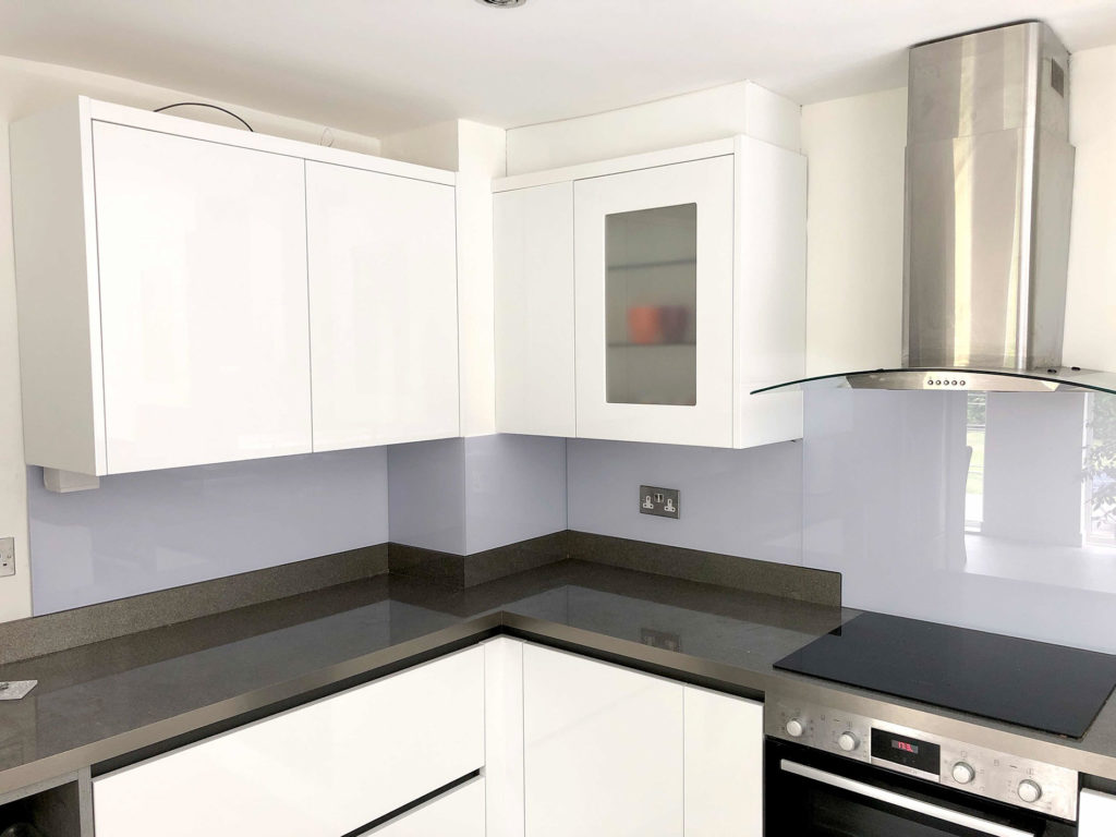 Purple Kitchen Glass Splashbacks
